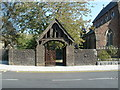 SO1608 : Lych gate, Christ Church, Ebbw Vale by Jaggery