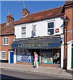 SU3521 : Latimer News shop, Latimer Street by Peter Facey