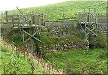 HU3613 : Quendale Mill Sluice Gates by Derek Mayes