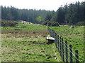 NO1951 : Fence and bath near Tullymurdoch by Maigheach-gheal