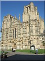 ST5545 : West front of Wells Cathedral by David Smith
