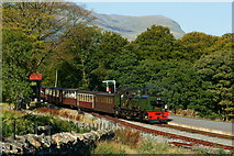 SH5848 : Arriving at Beddgelert by Peter Trimming