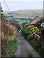 SD9807 : Knott Hill Lane, Delph by michael ely