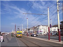 SD3035 : Blackpool promenade near the Pleasure Beach by Raymond Knapman