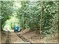 SE1338 : Blue car descending, Shipley Glen Tramway by Christine Johnstone