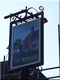 TM2844 : The Maybush Public House sign by Geographer
