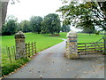 SO0725 : Entrance drive to Maesderwen west of Llanfrynach by Jaggery
