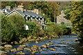SH5948 : Afon Glaslyn, Beddgelert, Gwynedd by Peter Trimming