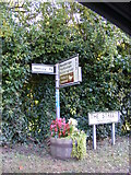 TM2743 : Roadsign on The Street, Newbourne by Geographer