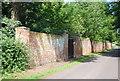 TQ4957 : Garden wall to Chevening by N Chadwick