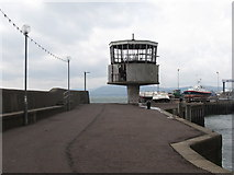 J4186 : Disused shipping control tower at the end of the breakwater by Eric Jones