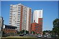 SP0685 : Tower block, Lee Bank Middleway by N Chadwick