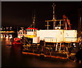J5082 : Tugs and a dredger, Bangor harbour by Rossographer