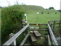 SK9818 : Stile leading to Bytham Castle by Marathon