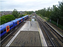 TQ2673 : Earlsfield station and tracks towards Clapham Junction by Marathon