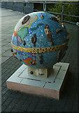 TQ1977 : Mosaic globe, National Archives, Kew by Julian Osley