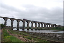 NT9953 : Train crossing the Royal Border Bridge by N Chadwick