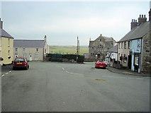 SH3568 : Main square Aberffraw by John Firth