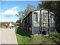 SO3314 : Footpath through property near Llanddewi Skirrid by Jeremy Bolwell