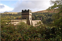 SK1789 : Castellated tower of the Derwent Dam by SMJ