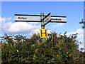 TM2839 : Roadsign on Falkenham Road by Adrian Cable