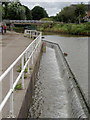 SJ6475 : Overflow weir on the Trent and Mersey Canal at Anderton, Cheshire by Roger  Kidd