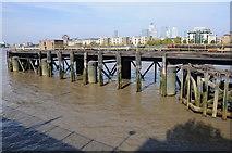 TQ3778 : Pier on Greenwich Reach by Philip Halling