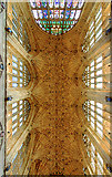 ST6316 : A brief tour of Sherborne Abbey - fan vaulting of the nave (detail) by Mike Searle