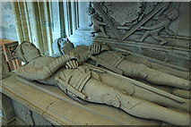 ST6316 : A brief tour of Sherborne Abbey - the Horsey tomb (detail - 1) by Mike Searle