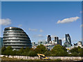 TQ3380 : City Hall and The Gherkin - London by Mick Lobb