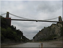 ST5673 : Clifton Suspension Bridge viewed from the river Avon by Dr Duncan Pepper