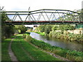 SE1720 : Bradley - pipe bridge over canal by Dave Bevis