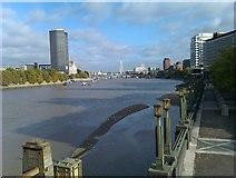 TQ3078 : View downstream from Vauxhall Bridge by David Martin