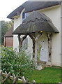 TQ6868 : Porch of the 'cottage orné' lodge, Cobham Park by Stefan Czapski
