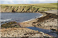 HP5005 : Beach at Wick of Whallerie, Gloup by Mike Pennington