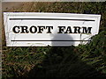 TM2639 : Croft Farm sign by Adrian Cable