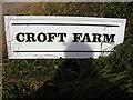 TM2639 : Croft Farm sign by Geographer