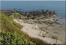 SX2553 : Angular promenade, East Looe by Derek Harper