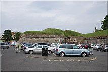 NT9953 : Car park by the town walls by N Chadwick