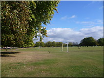 TQ2875 : Football on Clapham Common by Marathon