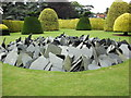 SP8922 : Ascott sculpture by Paul Shreeve