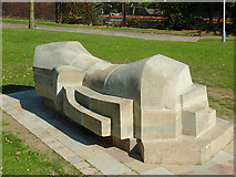 SO9199 : Sculpture near Wolverhampton Top Lock by Roger  Kidd