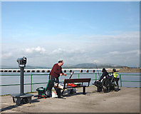 SD4578 : Anglers on Arnside Pier by Karl and Ali