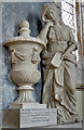 SU1821 : Monument to Margaret, Lady Feversham - St Laurence's church, Downton (detail) by Mike Searle