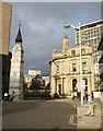 SX4754 : Bank Public House and clock tower, Plymouth by Derek Harper