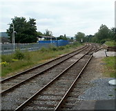 SN7634 : A view SW from Llandovery railway station by Jaggery