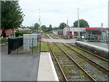 SN7634 : A view beyond the level crossing, Llandovery by Jaggery