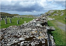 NB1340 : Path past the cemetery, Bostadh by Rob Farrow