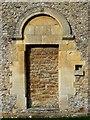 SU1790 : Norman doorway, south side, St Leonard's Church, Stanton Fitzwarren, Swindon by Brian Robert Marshall