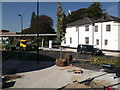 TQ7568 : Tree planting, Chatham Bus Station by David Anstiss